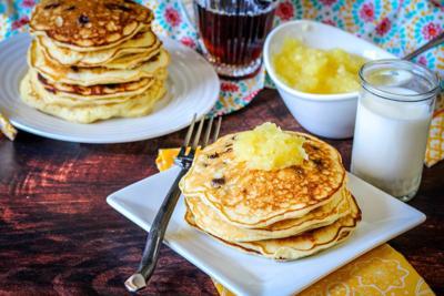 RECIPE: Banana Pineapple Chocolate Chip Pancakes