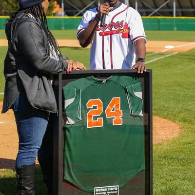 Stockbridge High retired Michael Harris' number Saturday afternoon (1).jpg