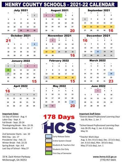Uga Academic Calendar 2022 23.Henry School Board Seeking Community Voice On Proposed School Calendars News Henryherald Com