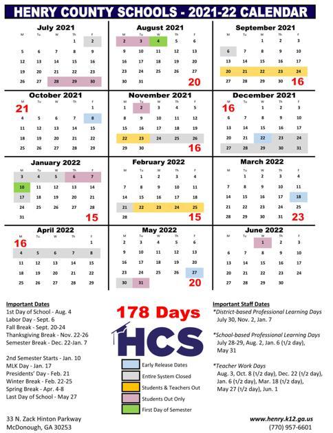 Uga Calendar 2022 23.Henry School Board Seeking Community Voice On Proposed School Calendars News Henryherald Com