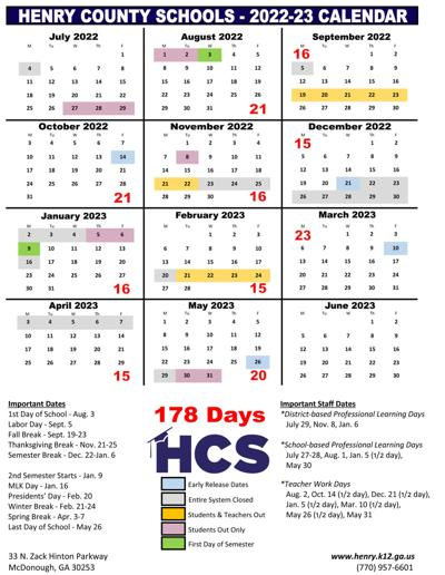 Gwinnett County Schools Calendar 2022 23.Henry School Board Seeking Community Voice On Proposed School Calendars News Henryherald Com
