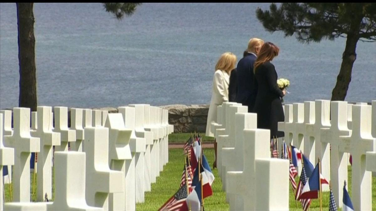 Trump hails D-Day veterans as 'among the very greatest Americans'