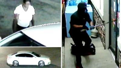 Stockbridge BP gas station burglary suspects sought