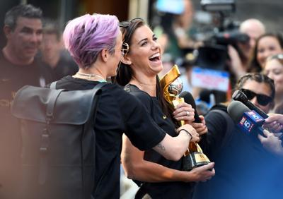 Soccer: Women's World Cup Champions-Hotel Arrival