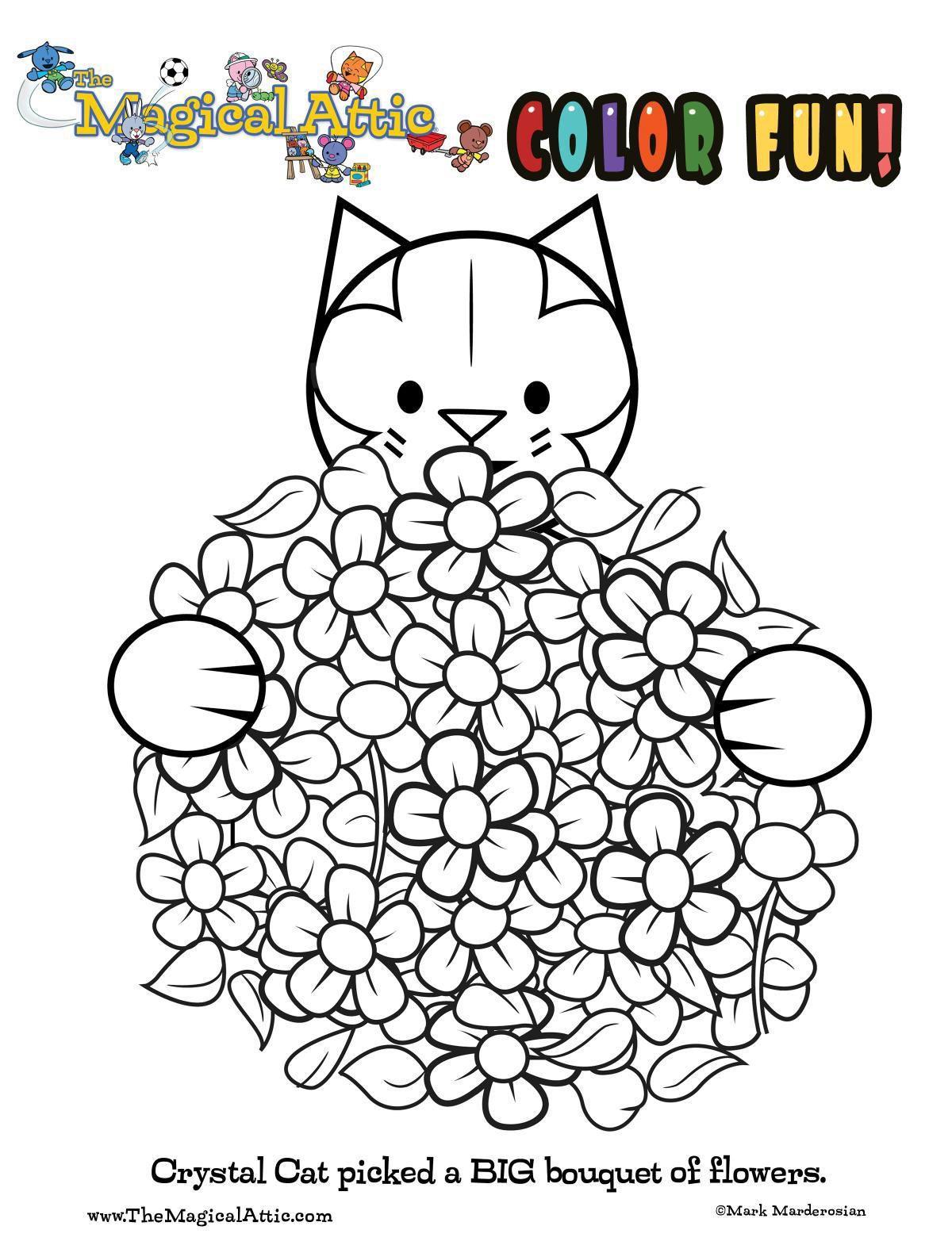 Color Crystal Cat's flowes