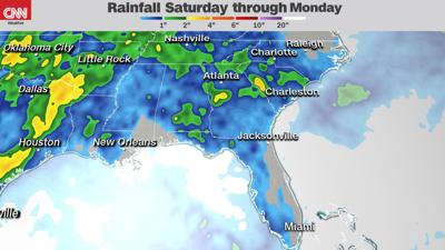 It will be a wet holiday weekend for many in the US