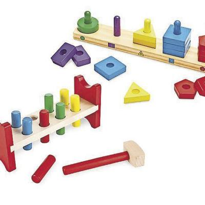 Melissa & Doug Classic Wooden Toy Bundle