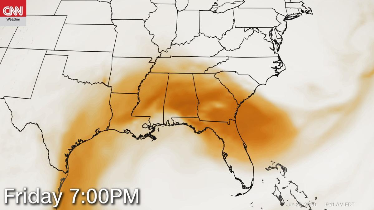 Saharan dust arrives in the US
