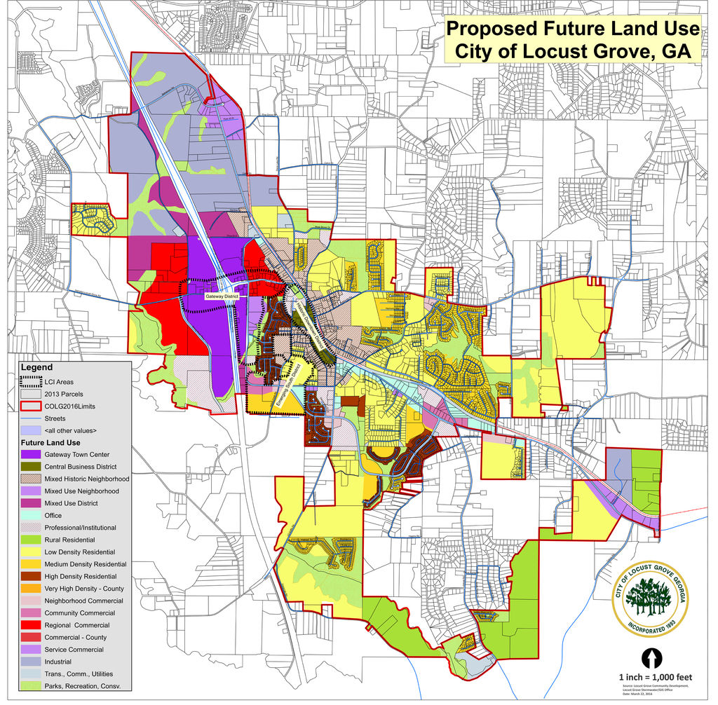 Future Land Use Changes Approved By Locust Grove City Council - Georgia map locust grove