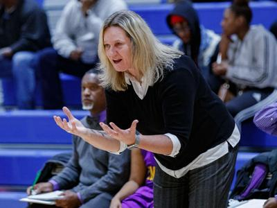 GIRLS BASKETBALL: Hampton notches her third victory in Molly Tideback era with 79-41 victory over Elite Scholars (copy)