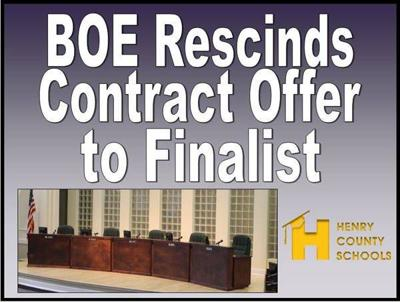 Henry BOE withdraws superintendent contract offer