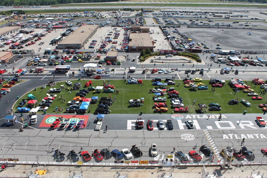 Atlanta motor speedway to be featured on lokar car show for Atlanta motor speedway lights 2017