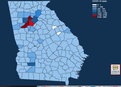 Coronavirus update: COVID-19 cases top 25,000 in Georgia ...