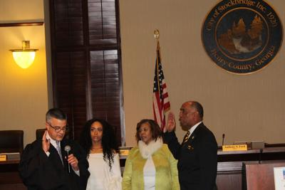 First black mayor of Stockbridge, re-elected members take oaths of office