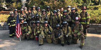 Henry County FD scales Stone Mountain for 9/11
