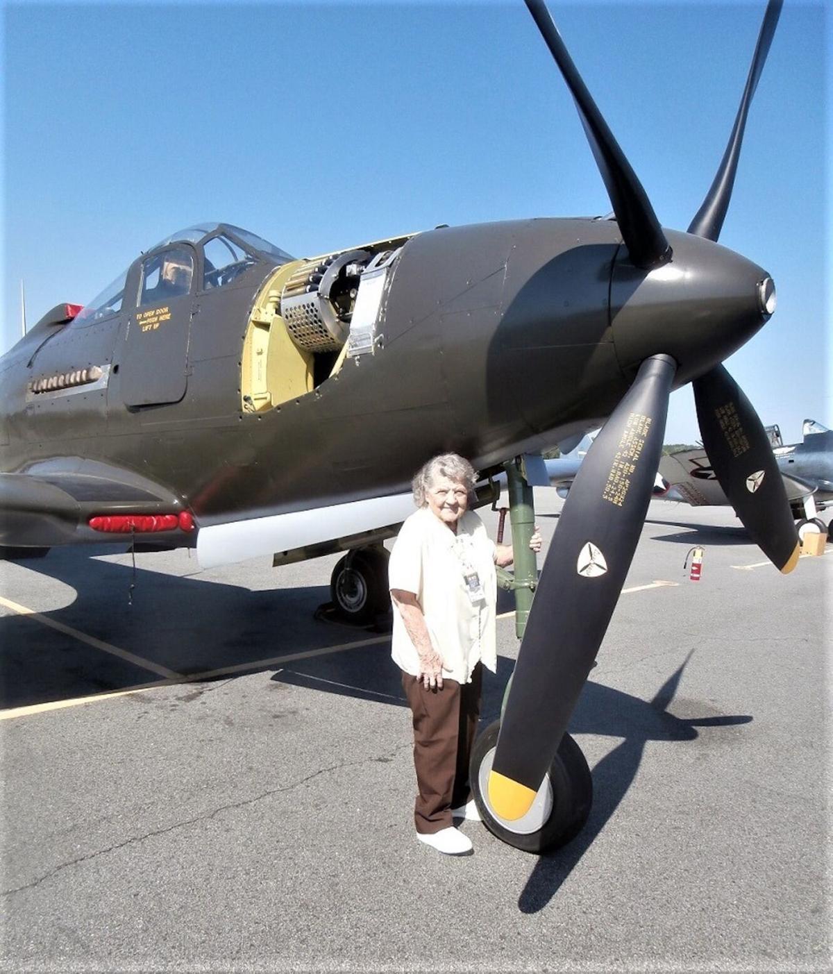 2017 - BETTY POSING WITH HER BELOVED P-63.JPG
