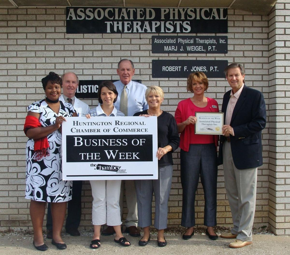 Huntington physical therapy - Chamber Of Commerce Names Associated Physical Therapists Inc Business Of The Week