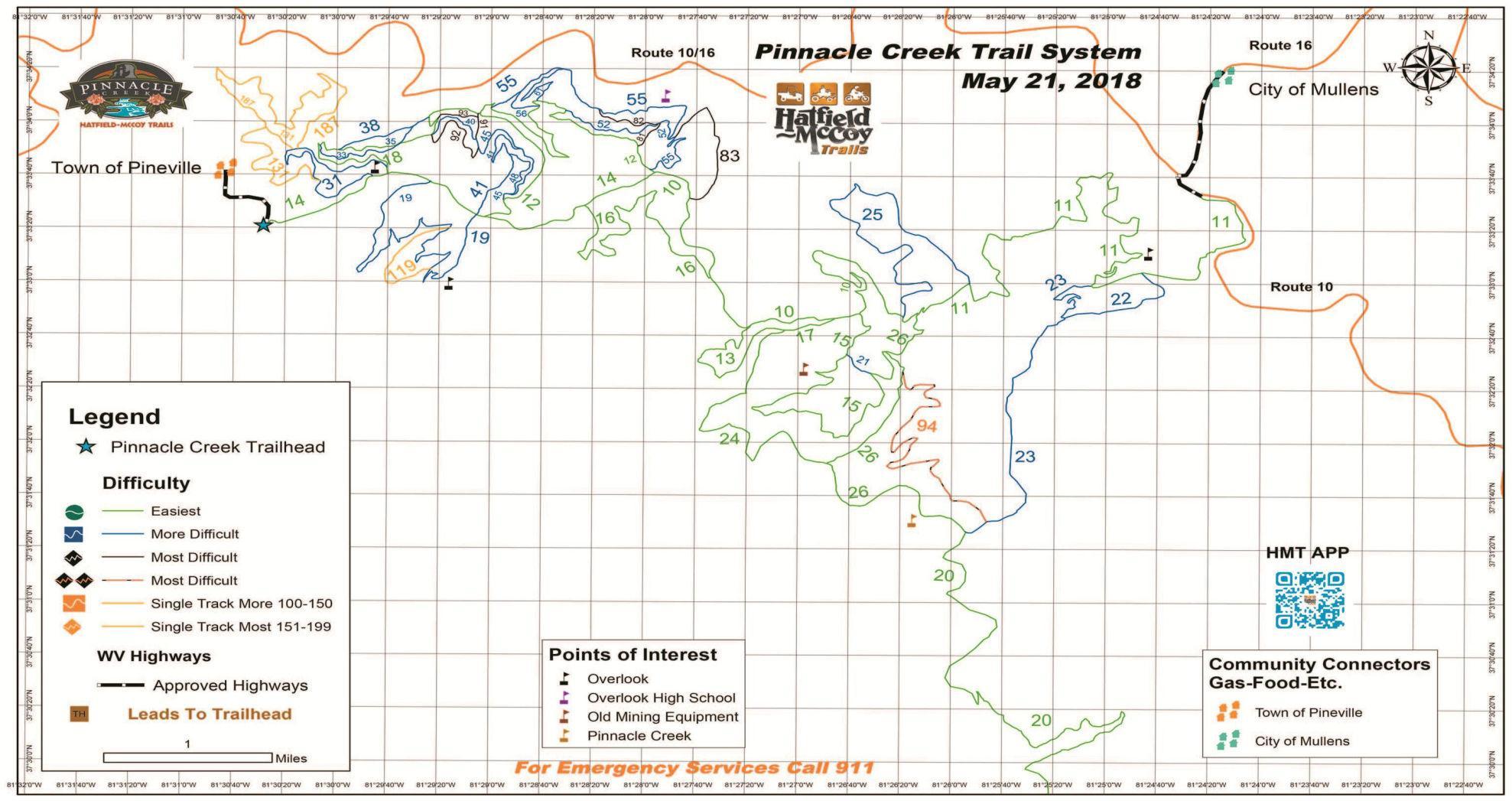 Hatfield Mccoy Trails West Virginia Atv Trail Maps