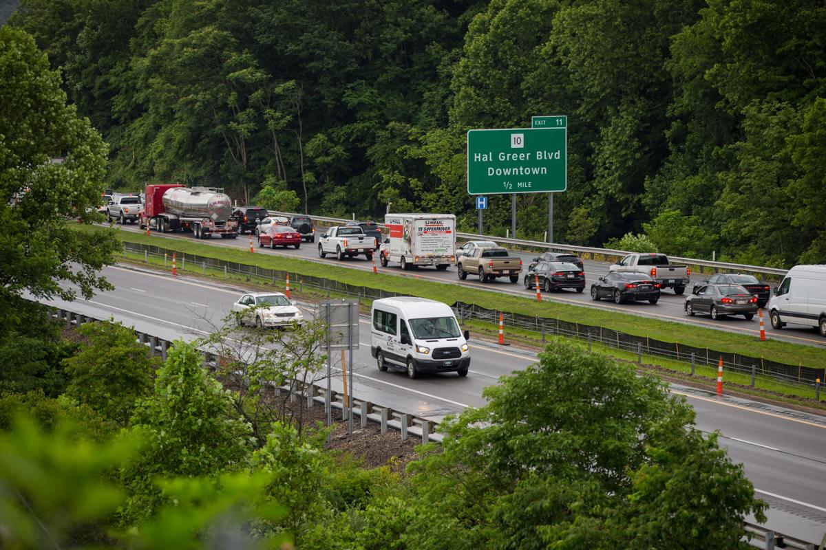 Single-vehicle accident closes eastbound lanes of I-64