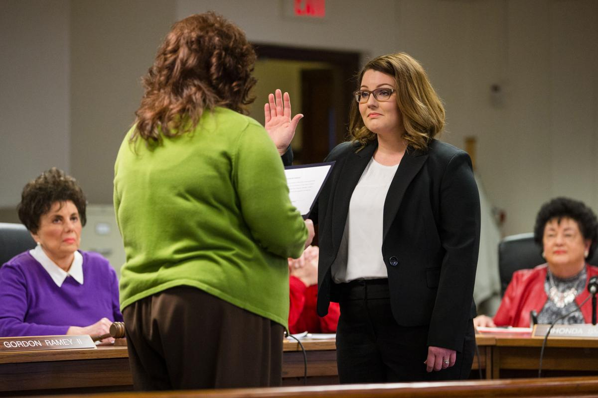 Alyssa Bond sworn in to Cabell County school board
