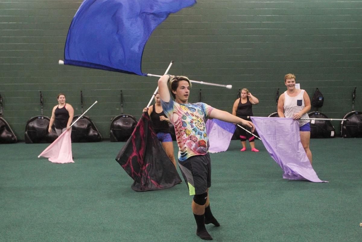 Articles about color guard - Vertigo Winter Color Guard Conducts Summer Clinic Sunday