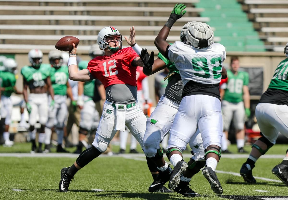 Green Finishes Strong In Spring Battle At Qb Marshall Sports