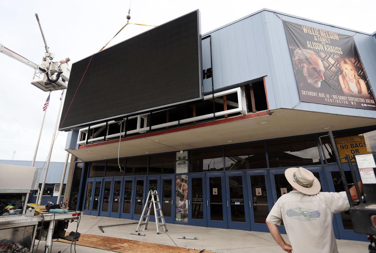 Big Sandy Superstore Arena Readies Video Board For Installation