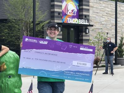 Photo: BUSINESS BEAT: Taco Bell at Kinetic Park awards scholarship