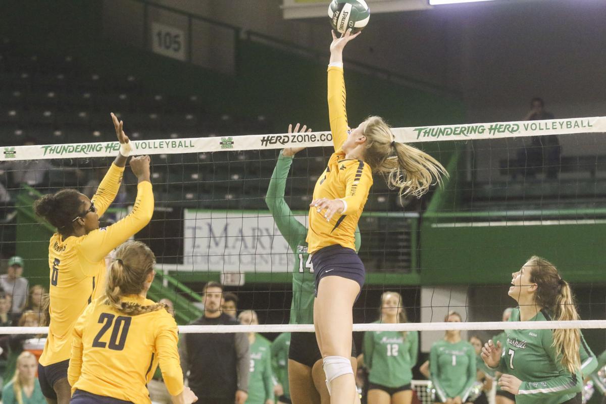 WVU sweeps Herd in volleyball, 3-0