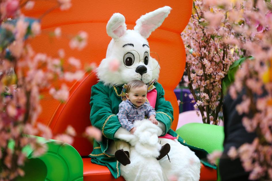 Easter Bunny arrives at Huntington Mall