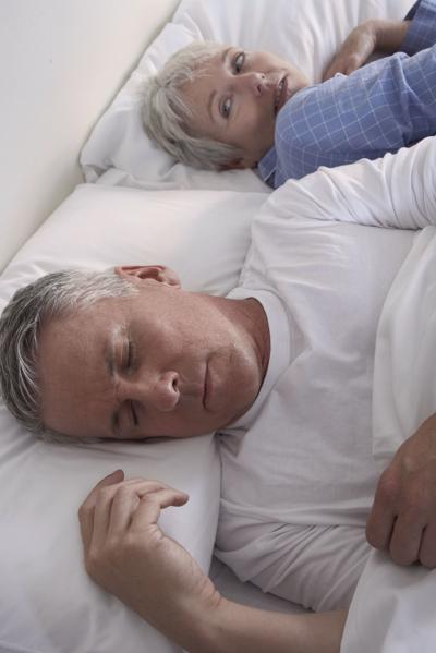 MetroCreative Connection Although snoring is a common problem among all ages and genders, the National Sleep Foundation says that men are twice as likely to snore as women, and snoring can worsen with age.