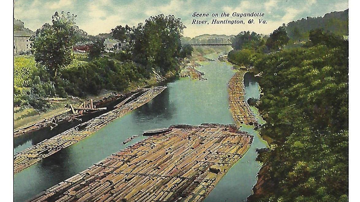 Lost Huntington: Timber rafts