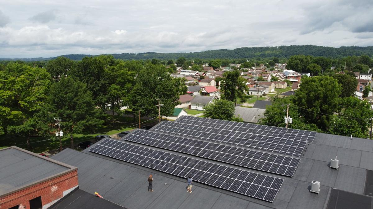 Solar installation project at West Edge Factory in Westmoreland pic