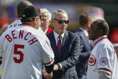 7a0c5c523 Reds notebook: MLB commissioner experiences first Reds' Opening Day ...