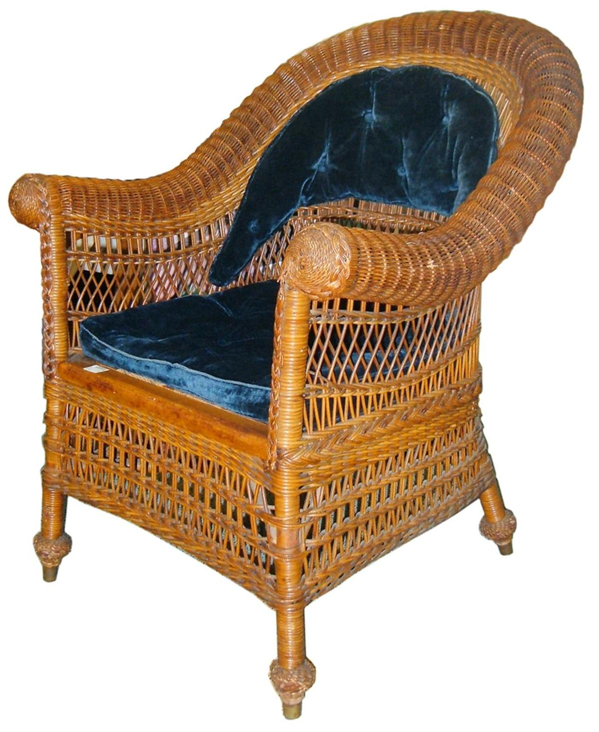 Antique Rocking Chair Identification - Jean mcclelland antique wicker can be identified by their wood frames