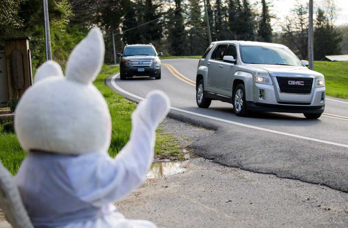 Photos: Drive-by Easter Bunny visit