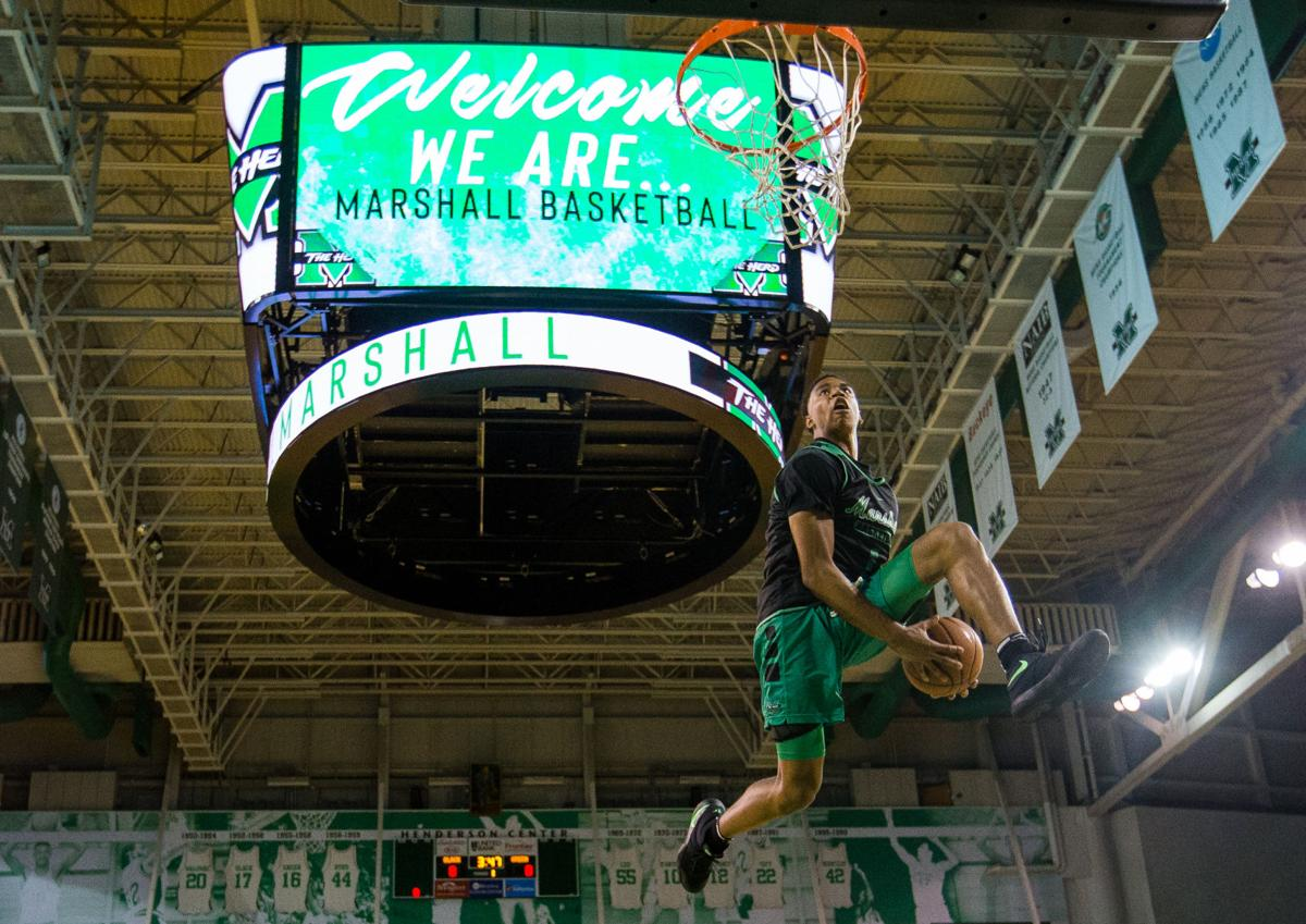 a9000f0cb75 Dunking freshman Taevion Kinsey is a high flier for Thundering Herd ...
