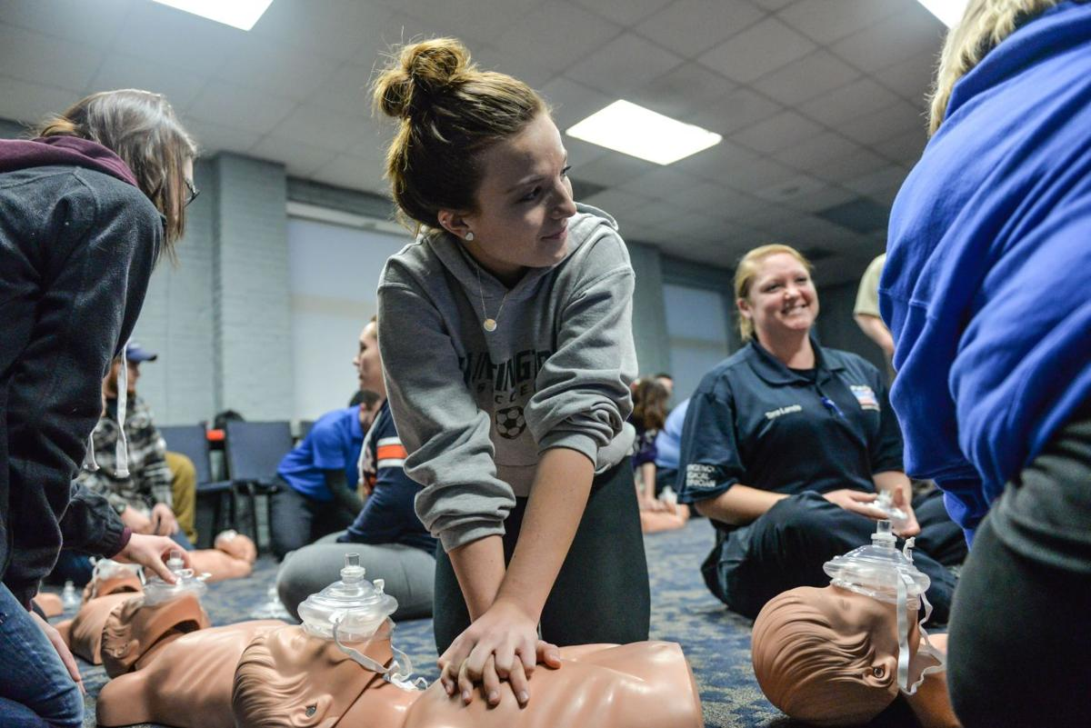 High school students take emt training news herald dispatch high school students take emt training xflitez Gallery