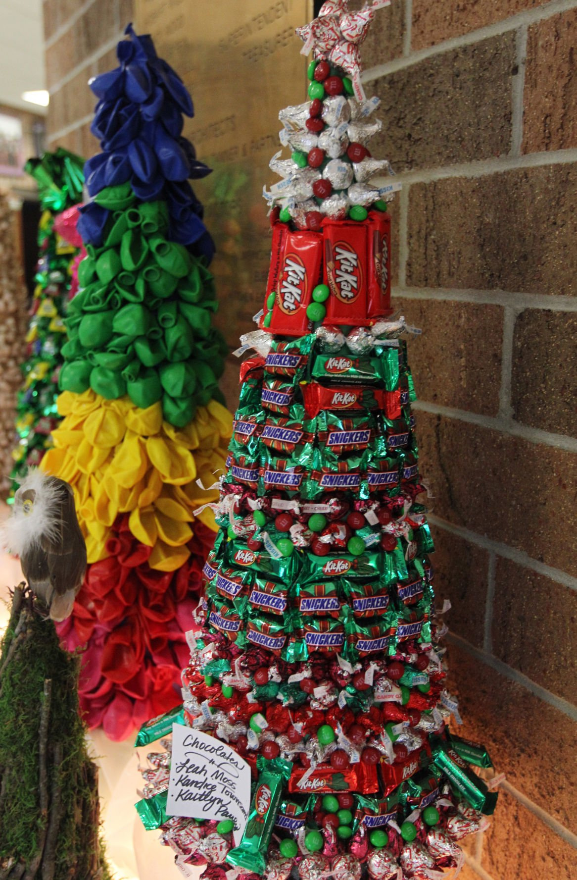 Photos: Students make Christmas Trees at Chesapeake High School ...
