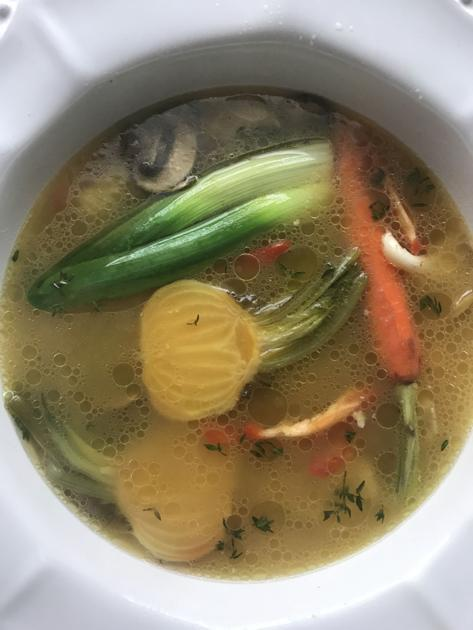 Janet McCormick: Yellow beets add a sweet quality to your savory chicken soup