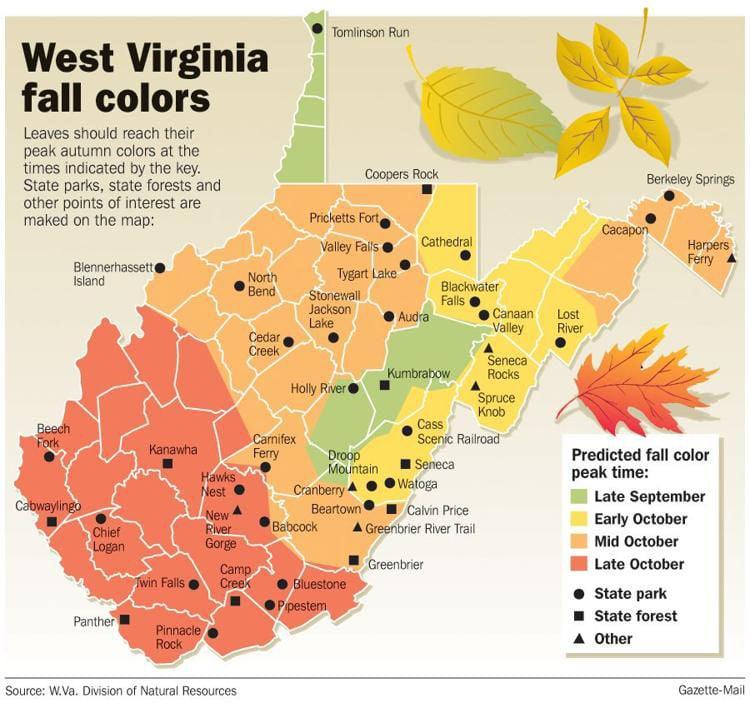 fall foliage map 2020