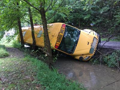 School bus crashes after road collapses in Wayne County | Recent