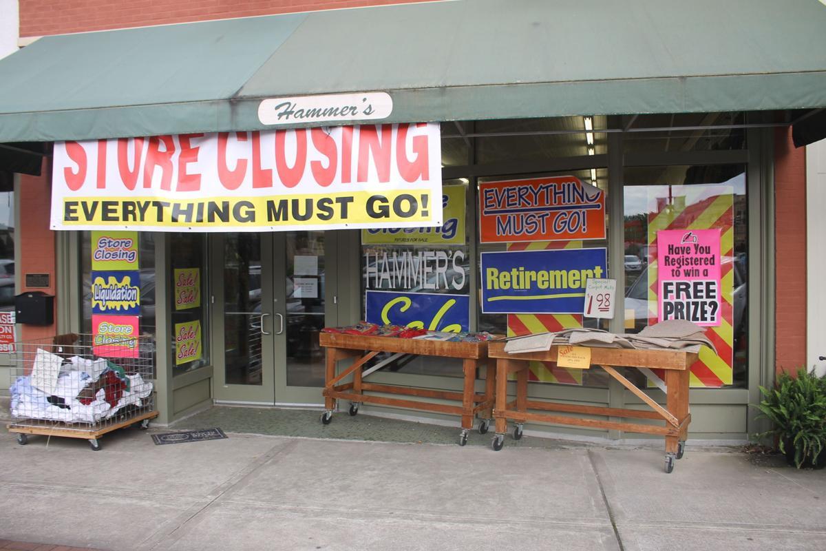 Hammer's closing sign