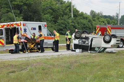 Flipped vehicle
