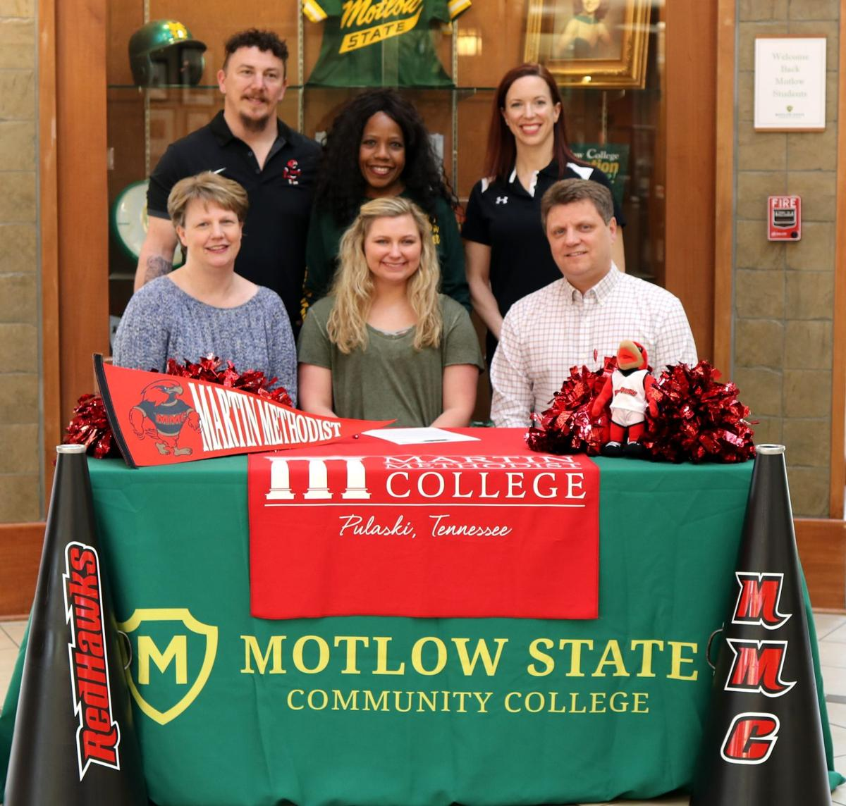 Motlow State cheerleaders awarded transfer scholarships to Martin Methodist College