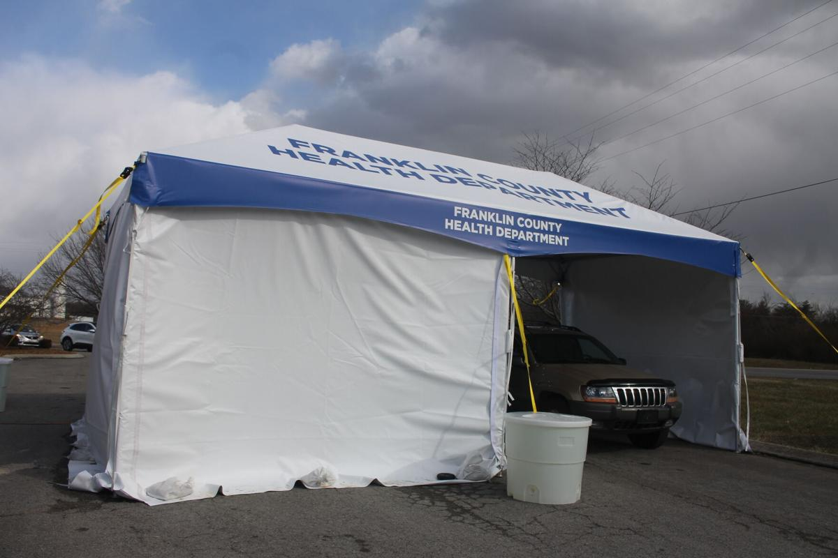 Vaccinations Health Department tent picture