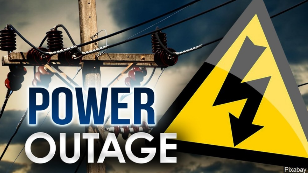 Power Outage Power outage causes cancellation of