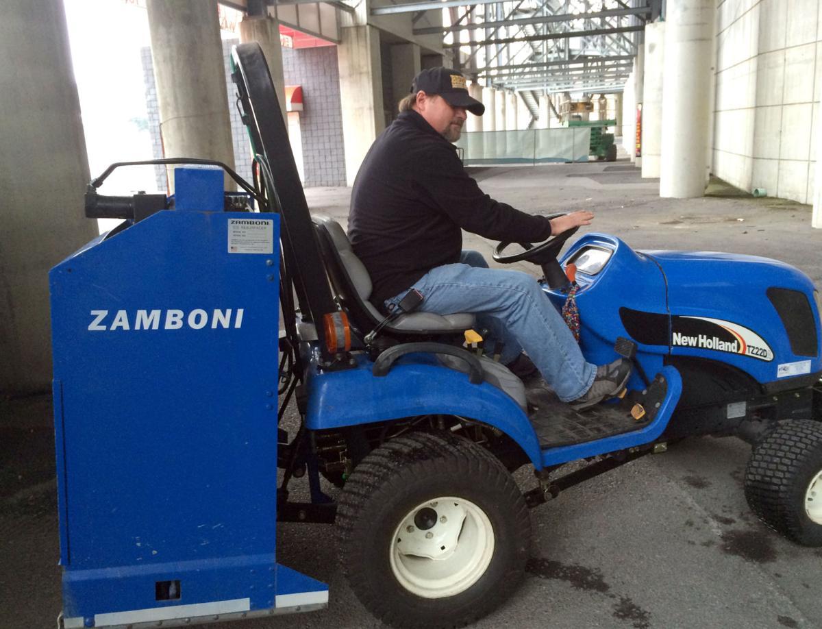 Zamboni Keeps The Ice Nice At Bristol Motor Speedway Rink
