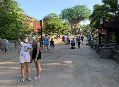 Disney annual passholders get a peek at the coronavirus-inspired changes inside Disney's Animal Kingdom on July 9, 2020.