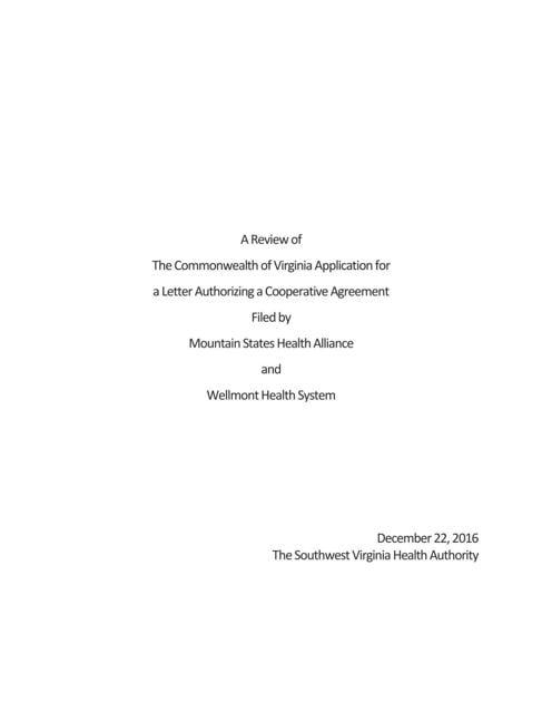 Cooperative Agreement Final Report Heraldcourier